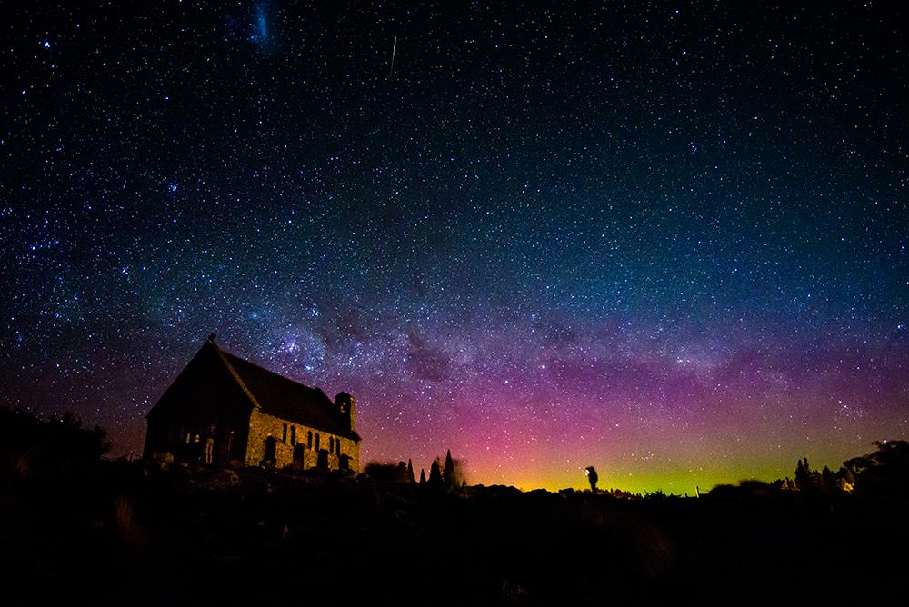 てかぽ湖の星空