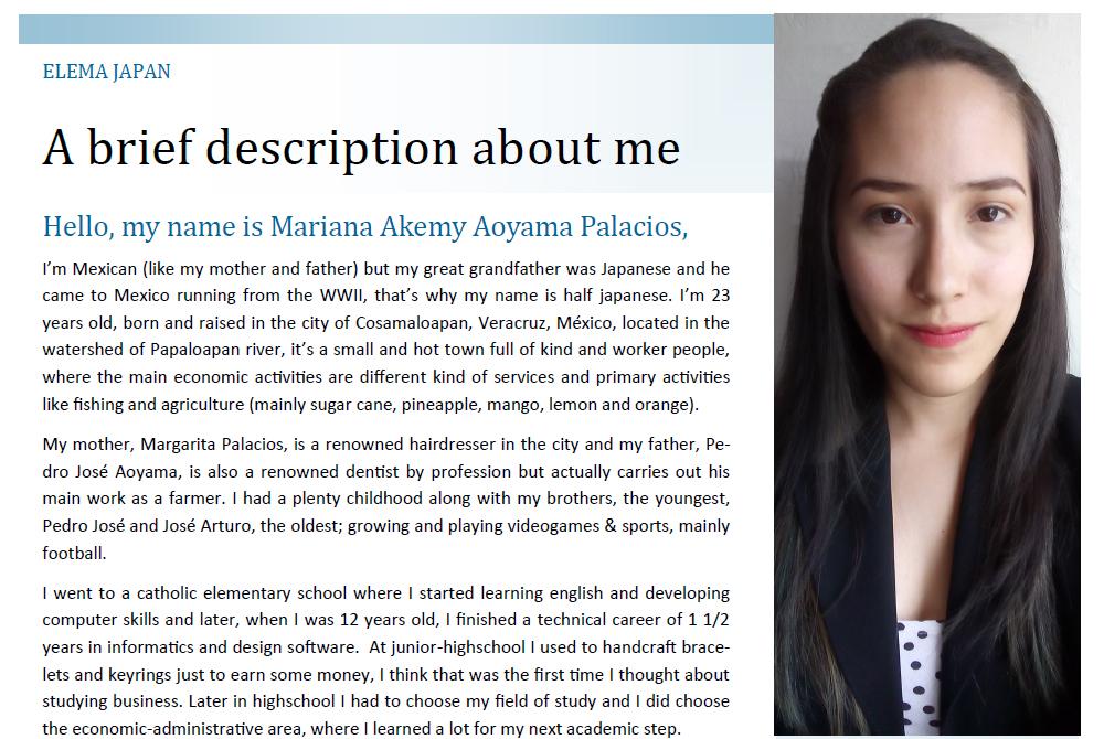 湘南貿易のインターン生インタビュー:Mariana Akemy Aoyama Palaciosさん